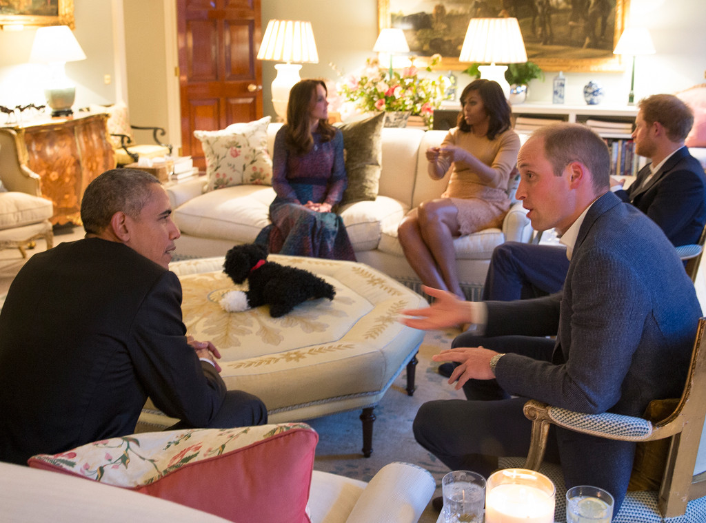 President Barack Obama, Michelle Obama, Kate Middleton, Prince William, Prince Harry